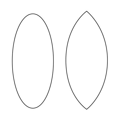 Tear Drop Shape on Printable Oval Shapes