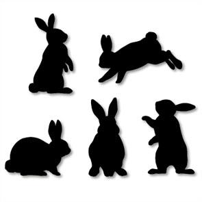 Rabbit Silhouette - ClipArt Best