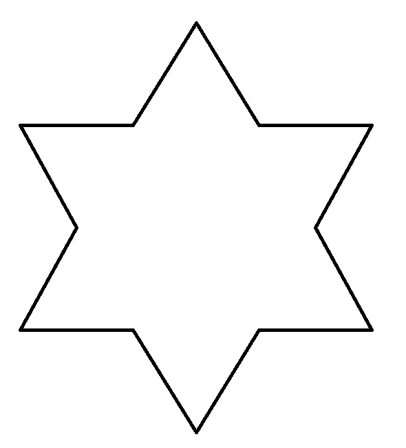 Pictures of star shapes clipart best for Star shape coloring page