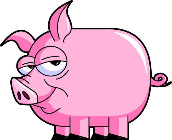 free clip art pink pig - photo #15