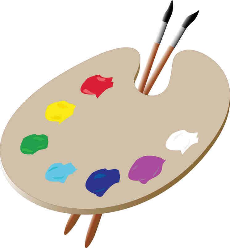 artist palette template clipart best