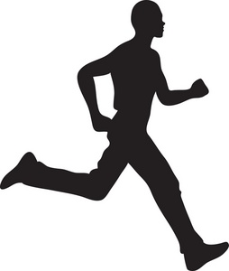 Jogger Clipart Image - Man Running Silhouette - ClipArt ...