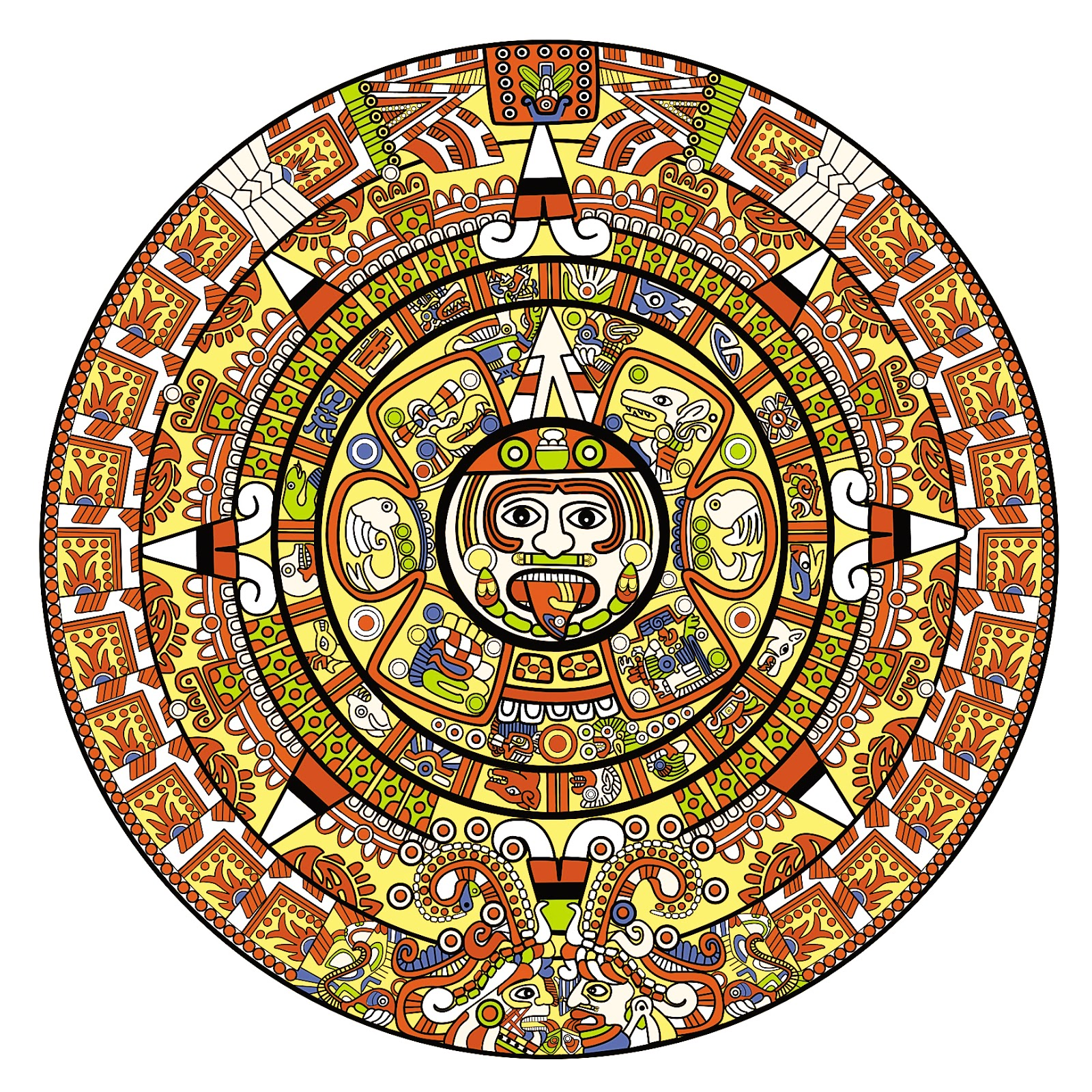 Aztec Calendar Drawings - ClipArt Best