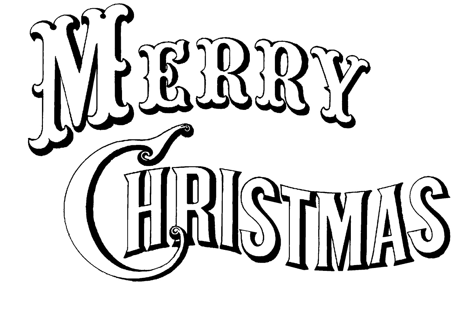 free clipart merry christmas text - photo #45