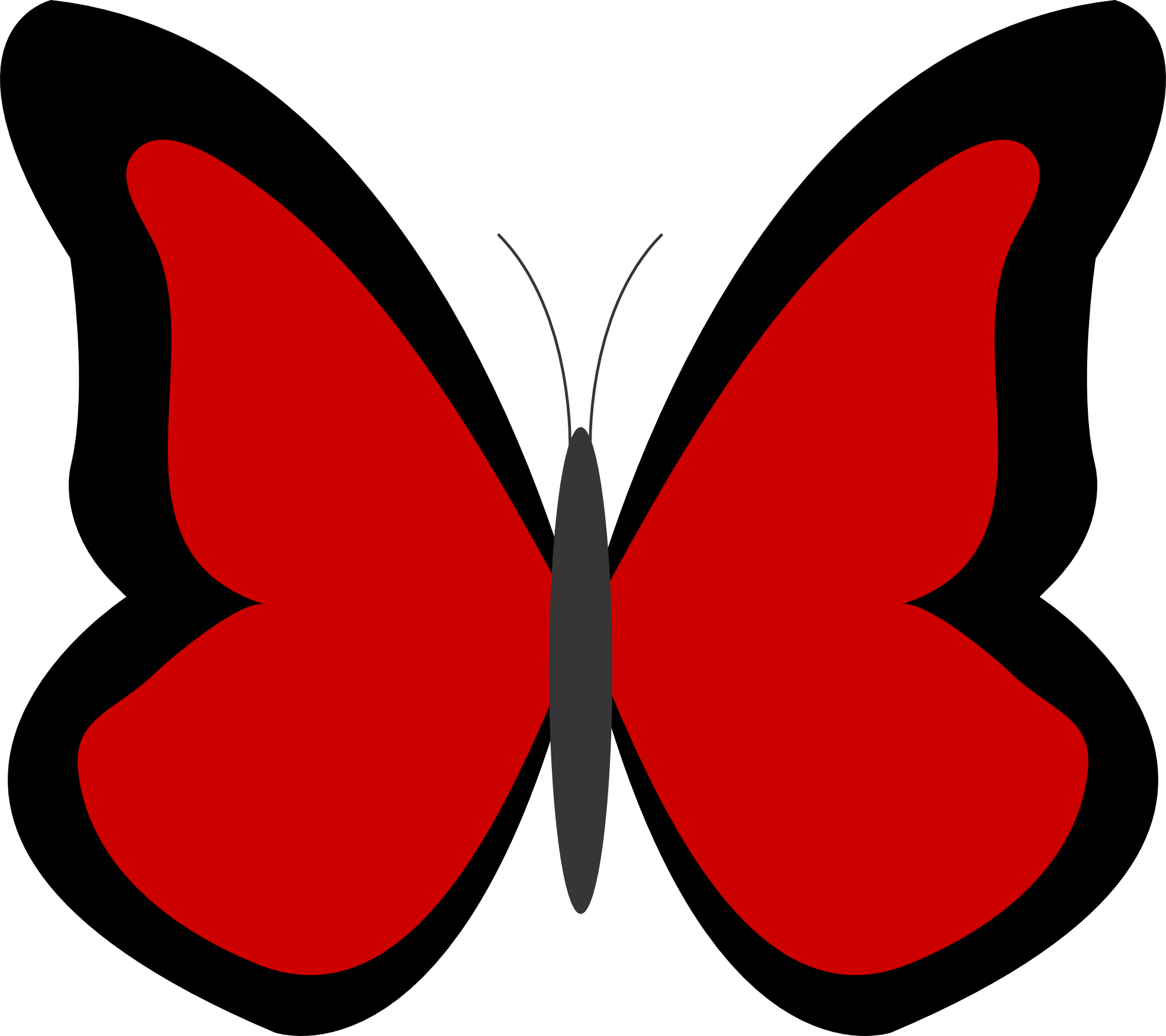 Butterfly 26 Color Colour Red 3 Peace xochi.info ...