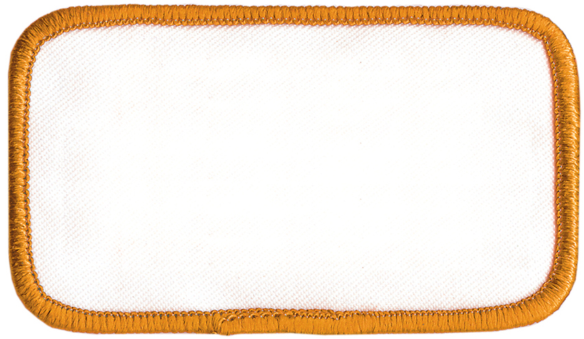 Inch rectangle yellow border blank uniform embroidered