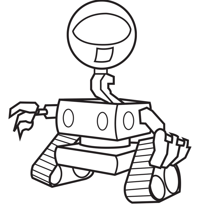 Coloring Pages a Robot Free Download | Free coloring pages, free ...