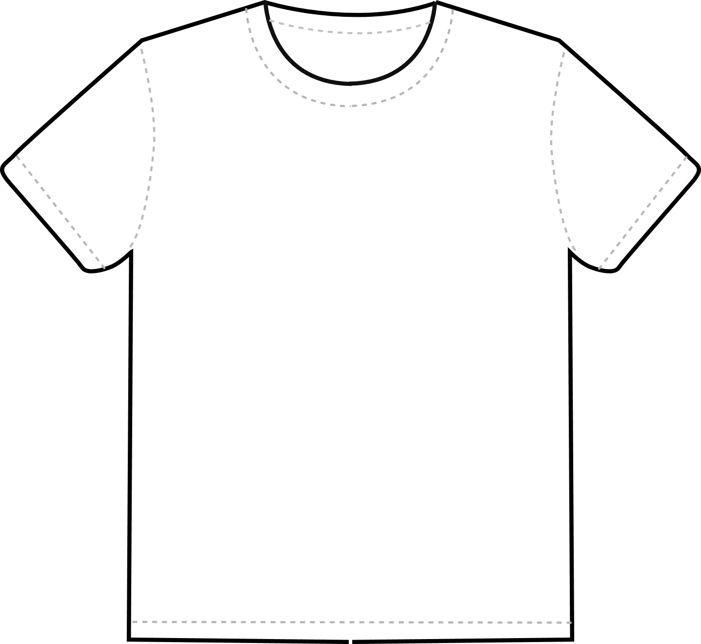 plain t shirt template clipart best