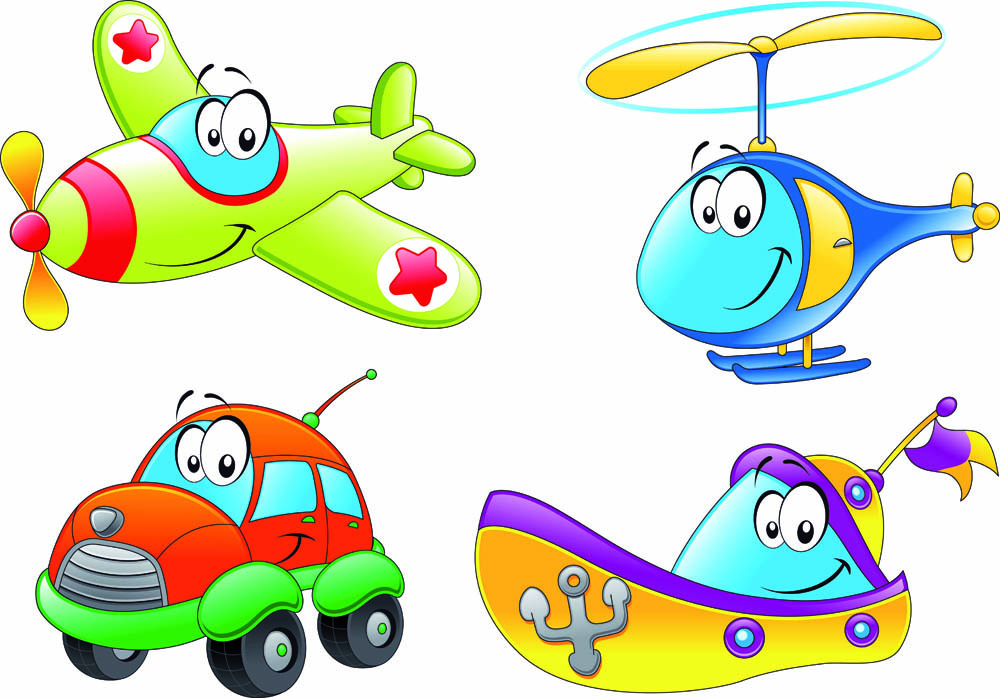 Cartoon Means Of Transport 01 Vector Free Vector