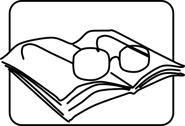 Reading Glasses clip art - vector clip art online, royalty free ...