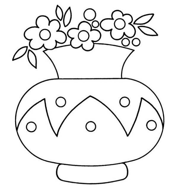 v is for vase coloring pages - photo #19