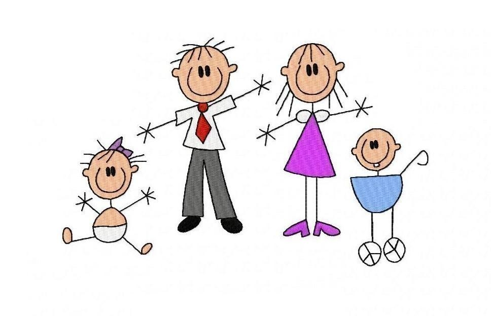 Stick Family Photo - ClipArt Best