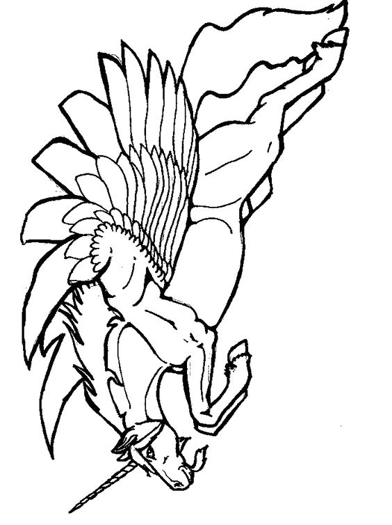 Winged Unicorn Coloring Pages - ClipArt Best