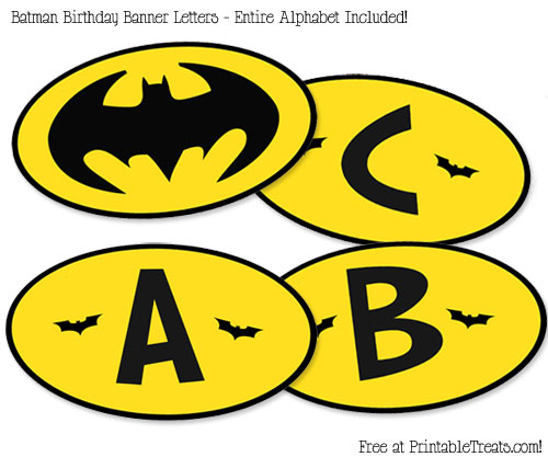 Free Printable Batman Birthday Banner — Printable Treats.com
