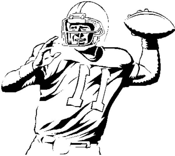 Drawings Of A Football Player Clipart Best