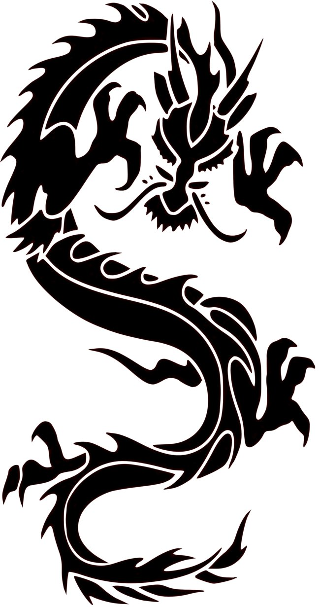 Wall Design Clipart : Clip art chinese dragon painting clipart free download