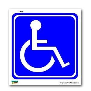 Disabled Wheelchair Symbol BLUE - Handicapped - Window Bumper ...