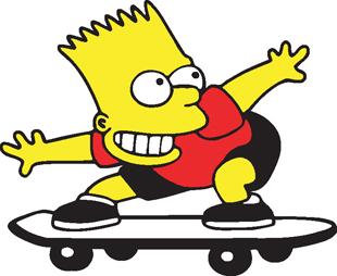 Bart Simpson On Skateboard Decal Cartoon Characters Cartoons Clipart Best Clipart Best