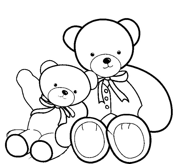 Printable Colouring Teddy Bear : Teddy Bears Free Coloring Pages