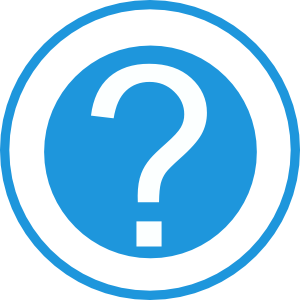 Blue question mark clipart