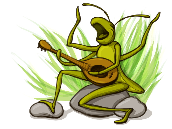 The Ant And The Grasshopper Cartoon - ClipArt Best