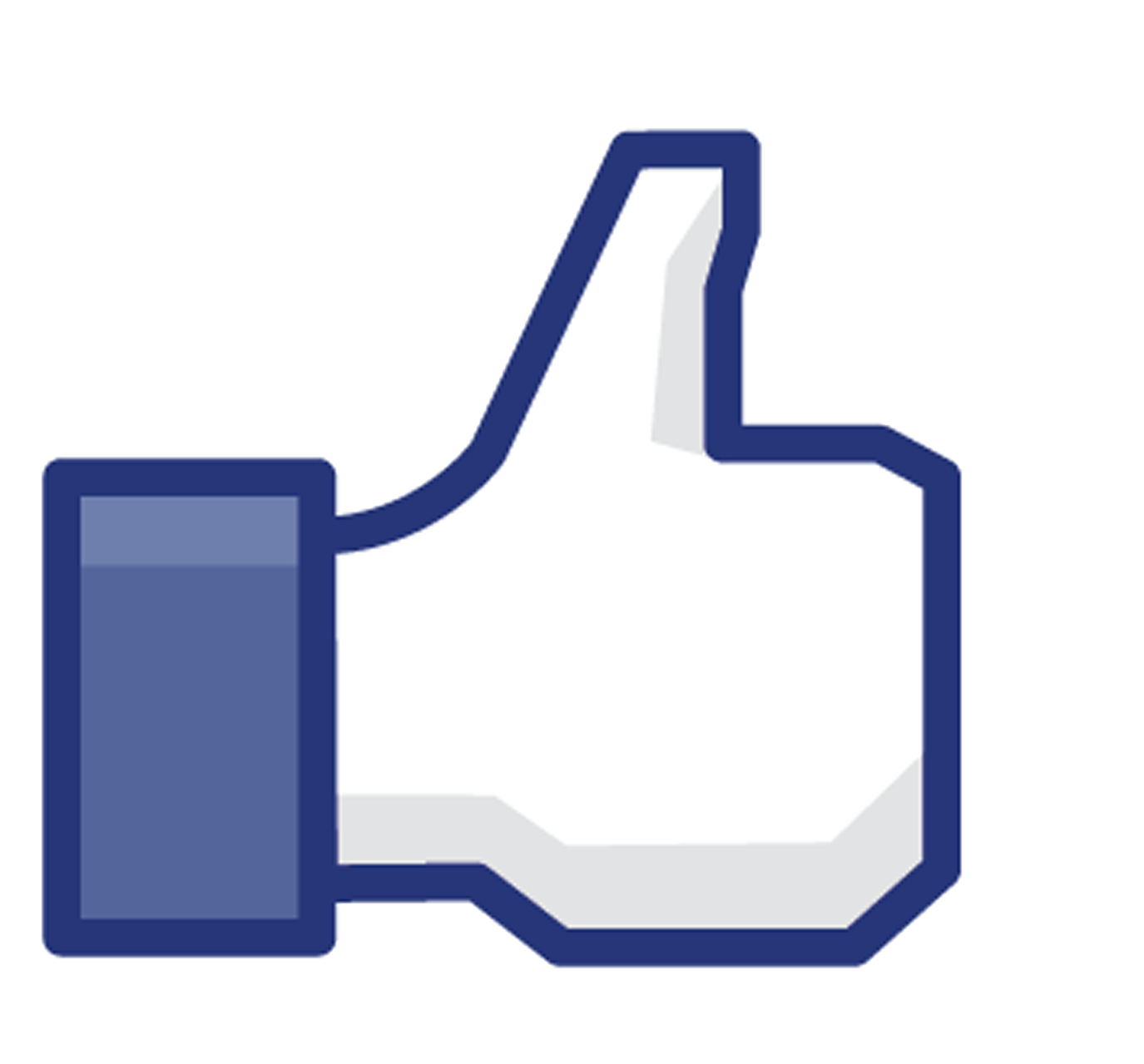 facebook like thumb blue