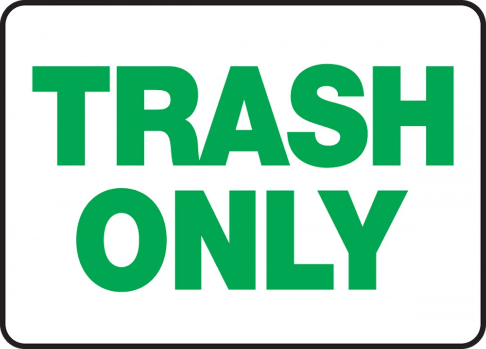 Garbage Signs - ClipArt Best