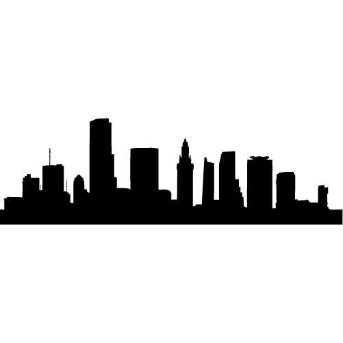 Houston Skyline Outline