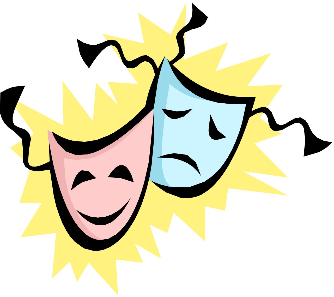theatrical masks images clipart best