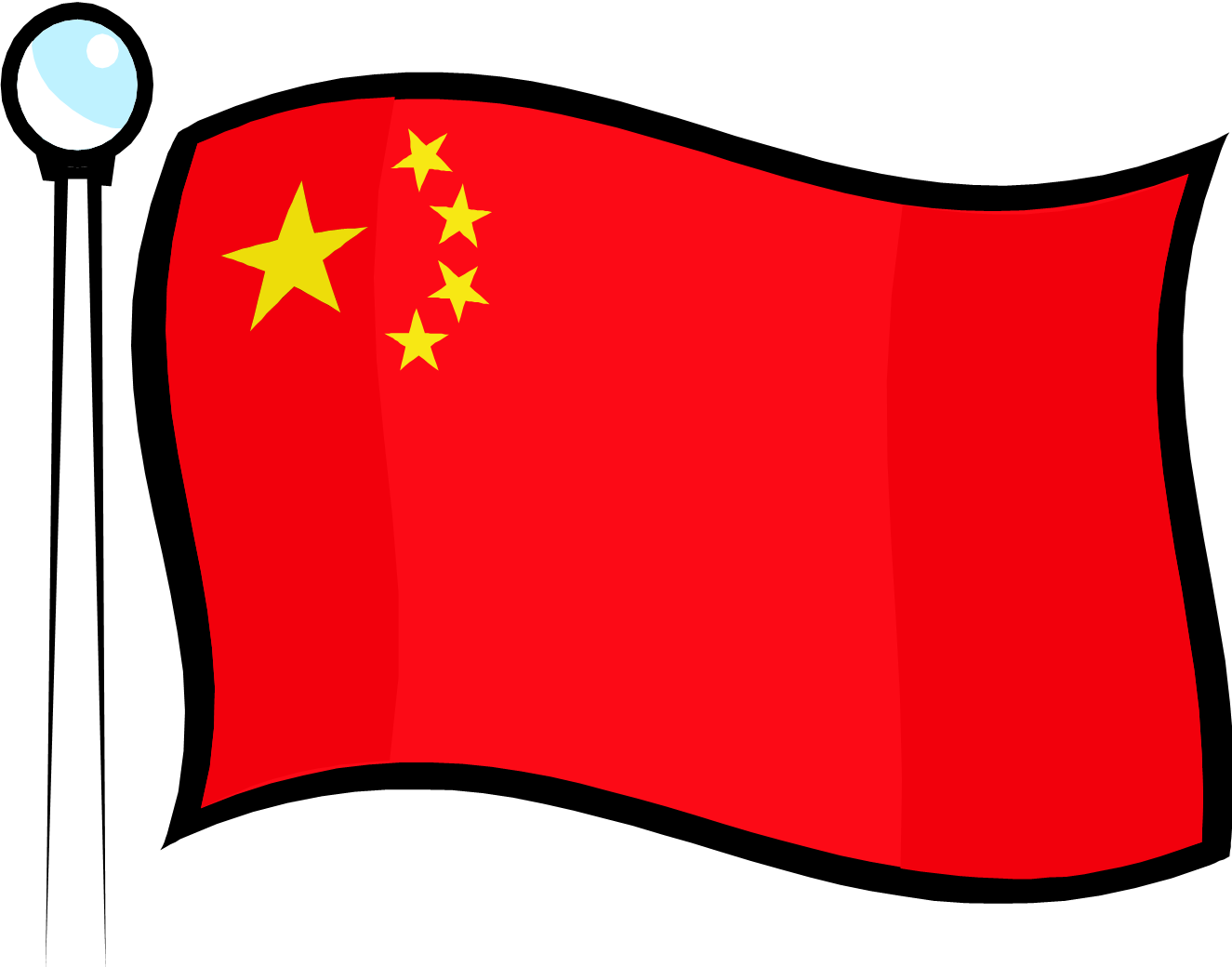chinese flag clipart the image kid has it. Black Bedroom Furniture Sets. Home Design Ideas