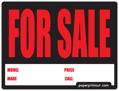 Template For Sales Signs Car - ClipArt Best