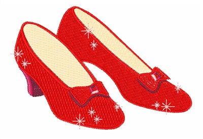 The Wizard Of Oz Cartoon Red Shoes