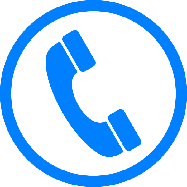 Blue Phone Icon - ClipArt Best
