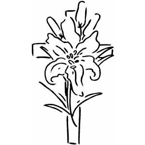 Cross With Flower Drawings - ClipArt Best