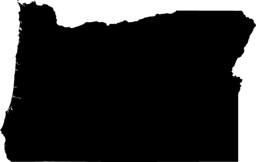 Oregon Map with cities - blank outline map of Oregon- - ClipArt Best ...