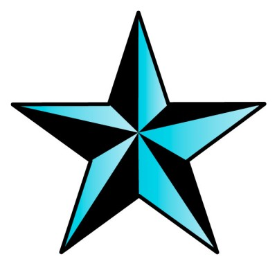 Light Blue Nautical Star Wall Decal by Kowalla - ClipArt ...