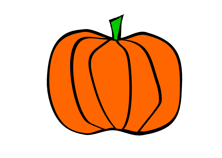 How to draw pumpkin clipart best for Funny pumpkin drawings