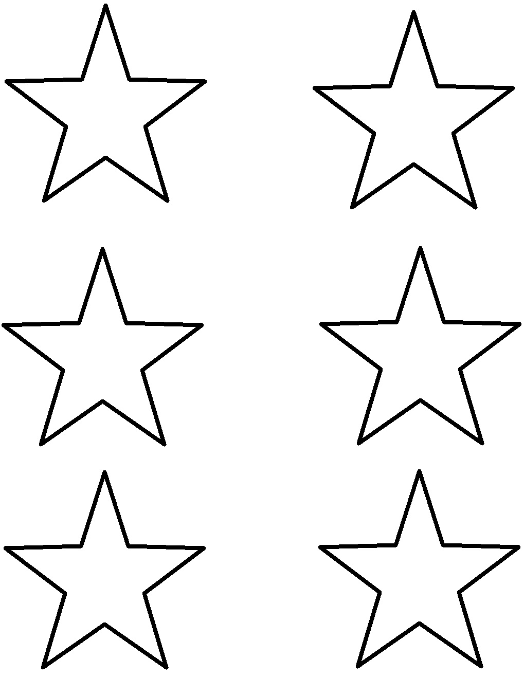Small Star Template Free Print - ClipArt Best