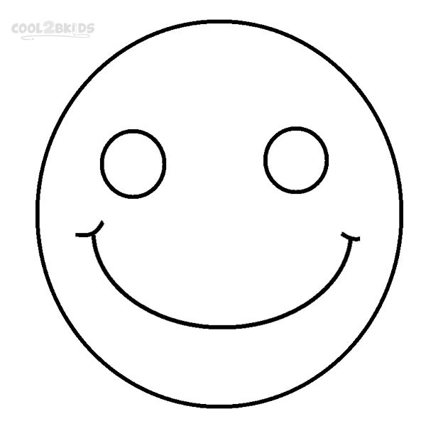 Coloring pictures of happy faces clipart best for Happy face coloring pages