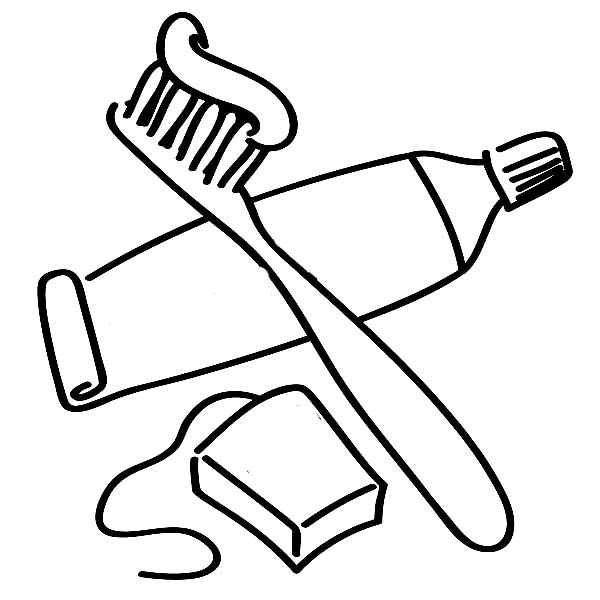Coloring pictures of brushing teeth