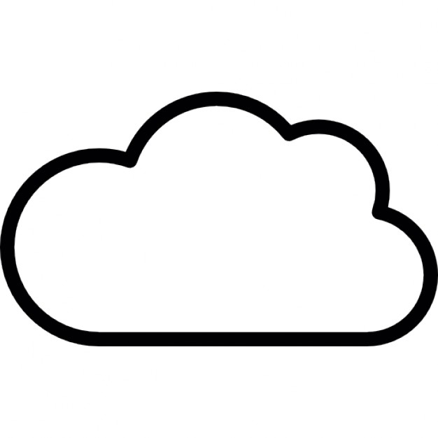 Cloud Outline Icons | Free Download