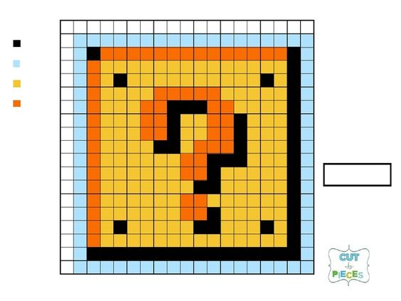 Quilt, Mario and Question mark