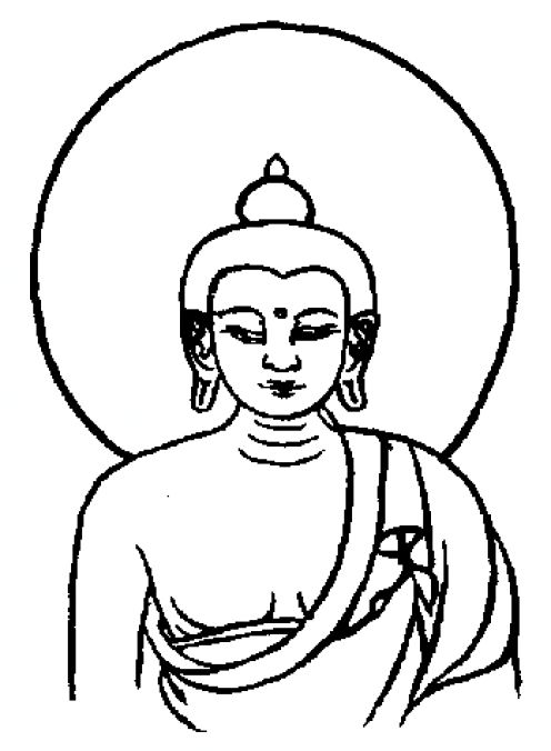 Buddha Line Drawing - ClipArt Best