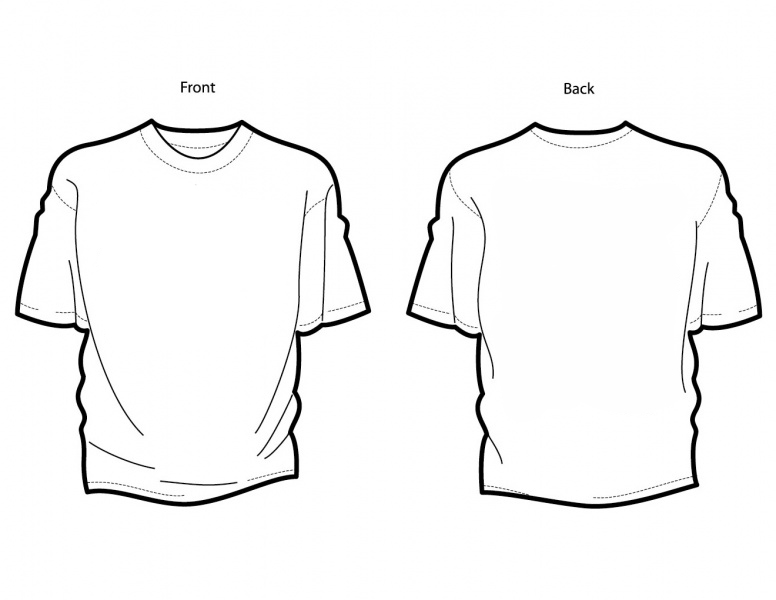 Front And Back T Shirt Template - ClipArt Best