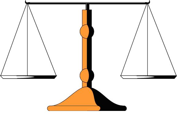 Simple Balance Scale Clipart