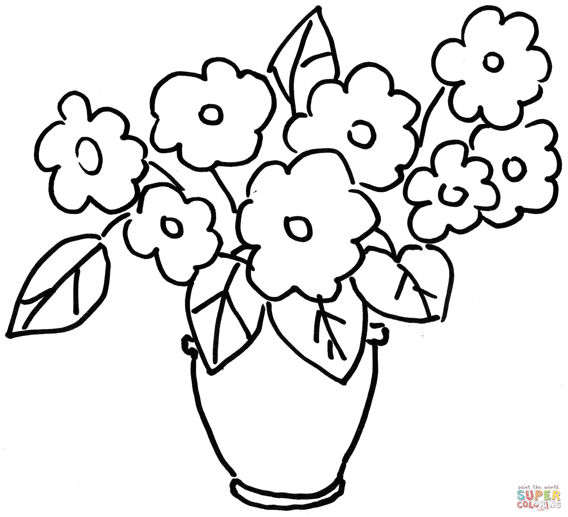 Pansy Coloring Pages ClipArt