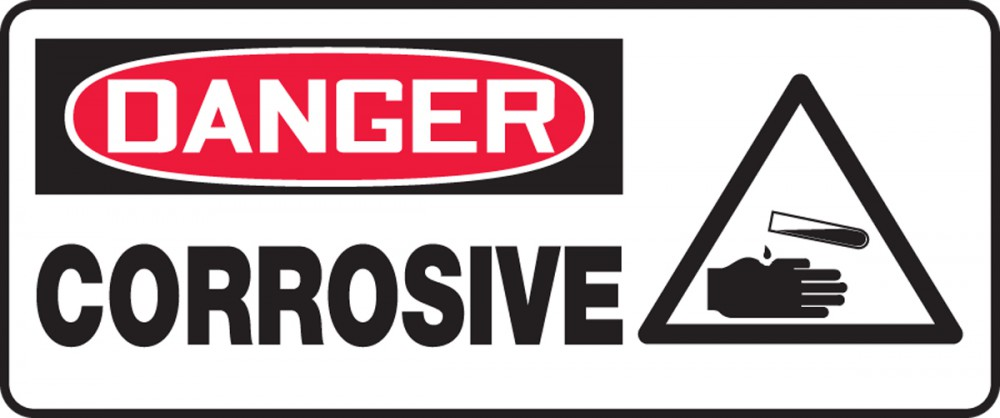 LALIZAS IMO SIGNS - Danger - Corrosive Substance