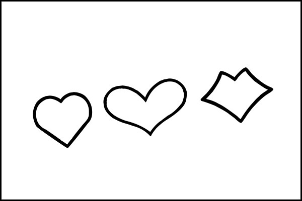 Heart stencils for full page paper clipart best for Full page heart template