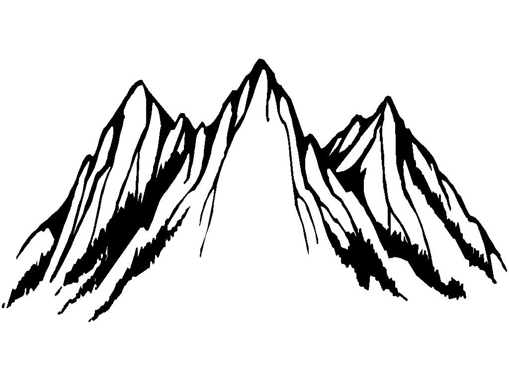 Line Drawing Mountain : Mountain line drawing clipart best