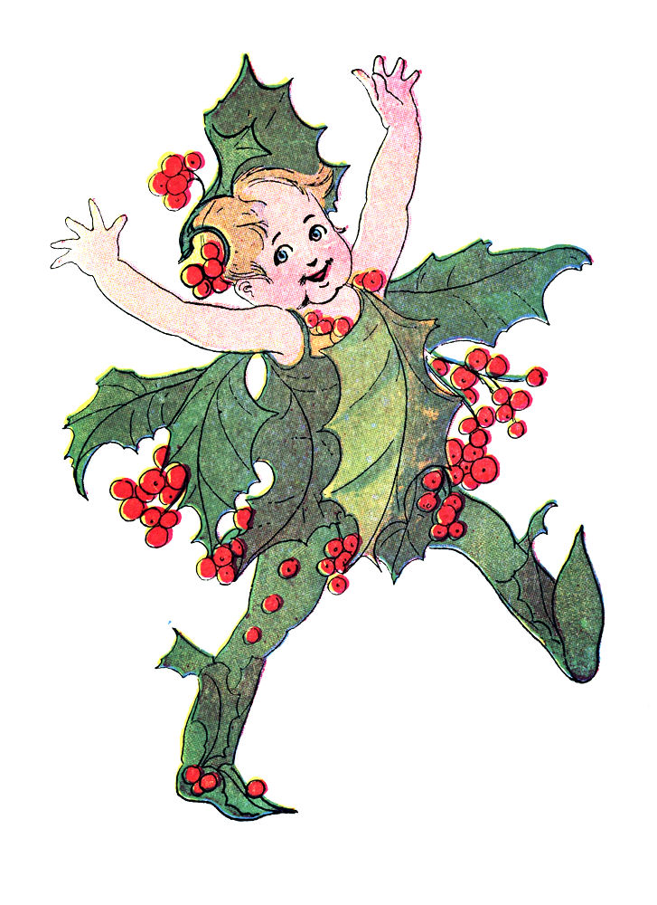 Free Vintage Clip Art - Flower Fairies - Christmas - The Graphics ...
